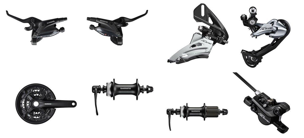 SHIMANO - классификация навесного оборудования для велосипеда