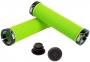 Грипсы Green Cycle GC-G211 130mm зеленый с двумя черными замками 0