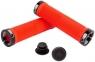 Грипсы Green Cycle GC-G201 130mm красный с двумя черными замками 0
