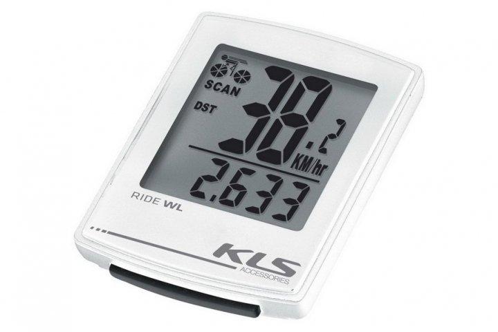 Велокомпьютер KLS RIDE WL, белый, 16 функций