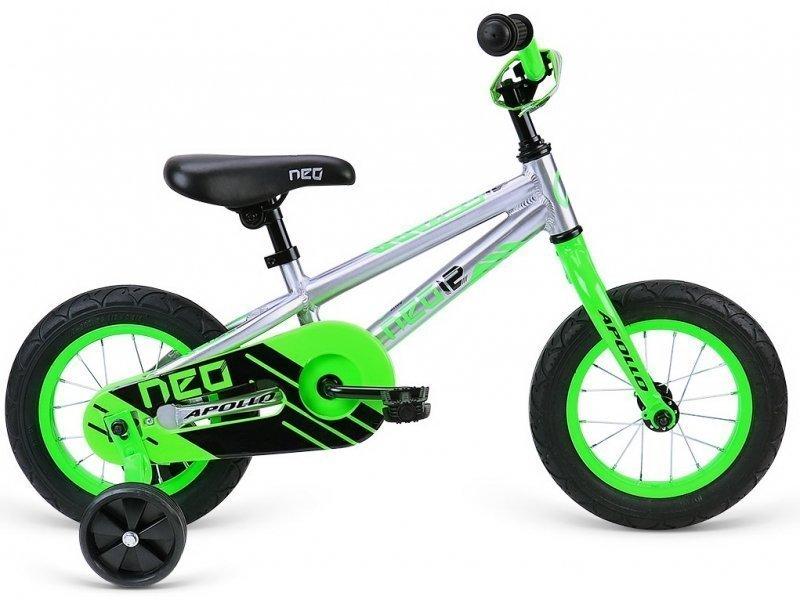 """Велосипед 12"""" Apollo Neo 12 boys салатовый/черный"""