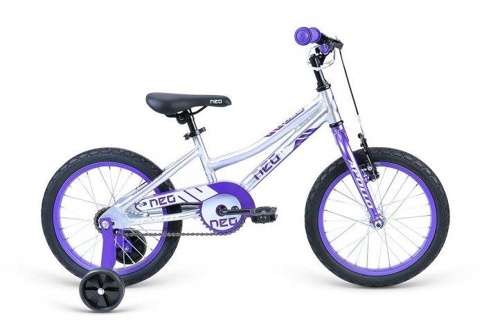 """Велосипед Apollo Neo 16"""" girls фиолетовый/белый"""