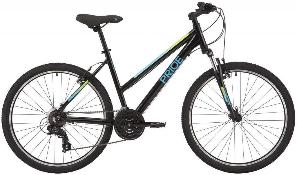 "Велосипед 26"" Pride Stella 6.1 (2020) black/torq"