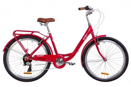 """Велосипед 26"""" Dorozhnik Ruby 2019 красный"""