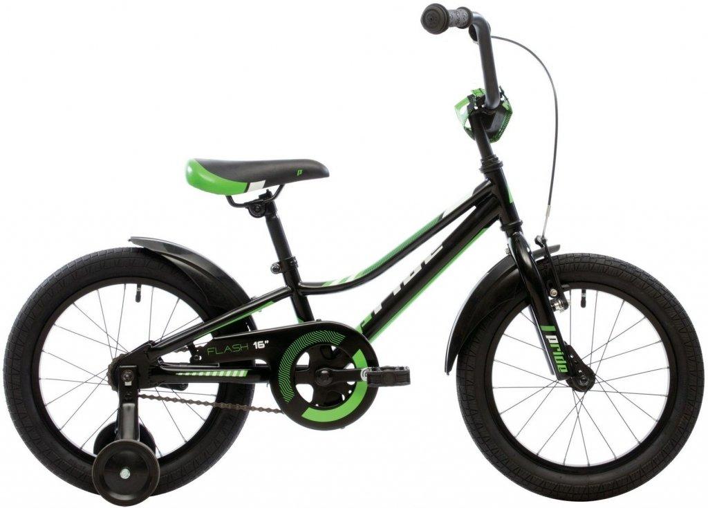 """Велосипед Pride Flash 16"""" черно-зеленый 2018"""