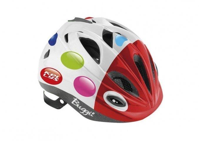 Шлем детский Buggie цветной горошек, размер XS/S