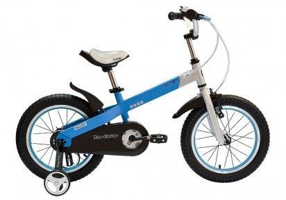 "Велосипед 12"" RoyalBaby BUTTONS бело-синий"