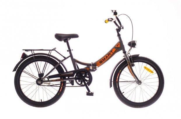 """Велосипед Dorozhnik SMART 20"""" 2016 серый с оранжевым"""