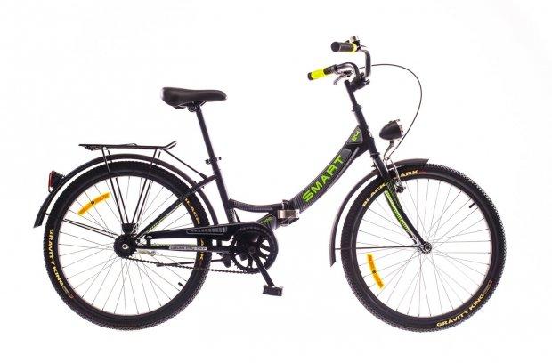 """Велосипед Dorozhnik SMART 24"""" 2016 черный"""
