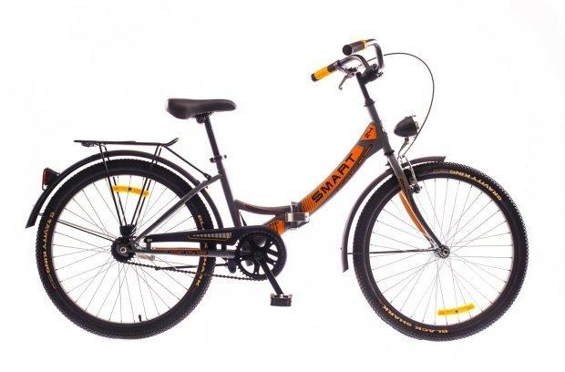 """Велосипед Dorozhnik SMART 24"""" 2016 серый с оранжевым"""