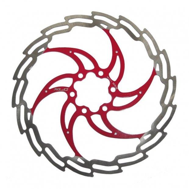 Ротор XLC BR-X02, 160 мм, серебристо-красный