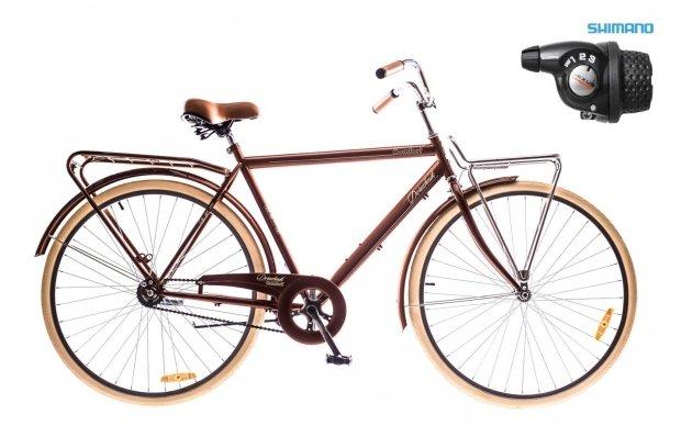 "Велосипед Dorozhnik COMFORT 28"" MALE Planetary Hub 2016 коричневый"