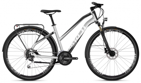 "Велосипед 28"" Ghost Square Trekking 4.8 W iridium silver / jet black / star white"