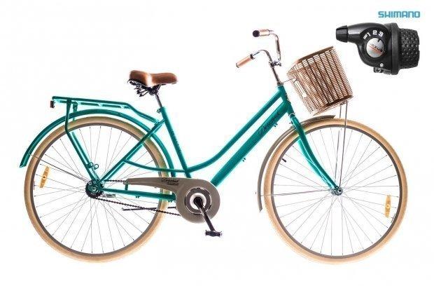 "Велосипед Dorozhnik COMFORT 28"" FEMALE Planetary Hub 2016 зеленый"