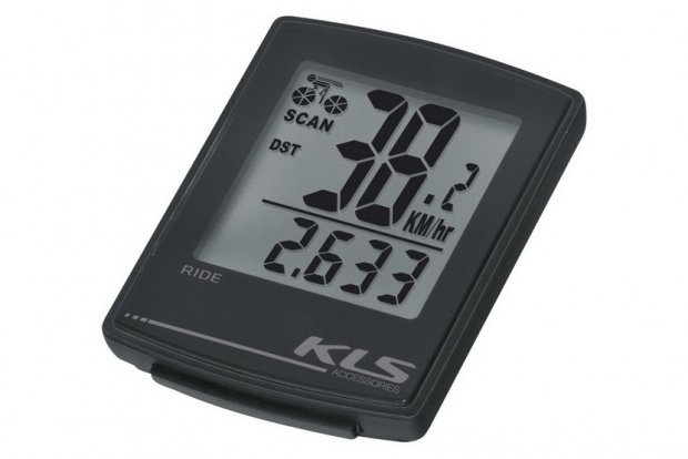 Велокомпьютер KLS RIDE, черный, 16 функций