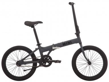 """Велосипед складной 20"""" Pride MINI 1 2019 темно-серый/черный"""