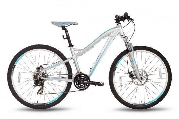 Велосипед PRIDE BIANCA MD 2016 серо-бирюзовый матовый