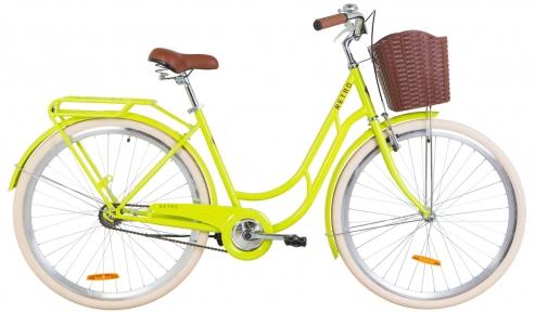 """Велосипед 28"""" Dorozhnik Retro 2019 салатовый"""