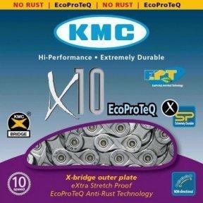Цепь KMC X10 EPT, 10-ск., 114 звеньев + замок