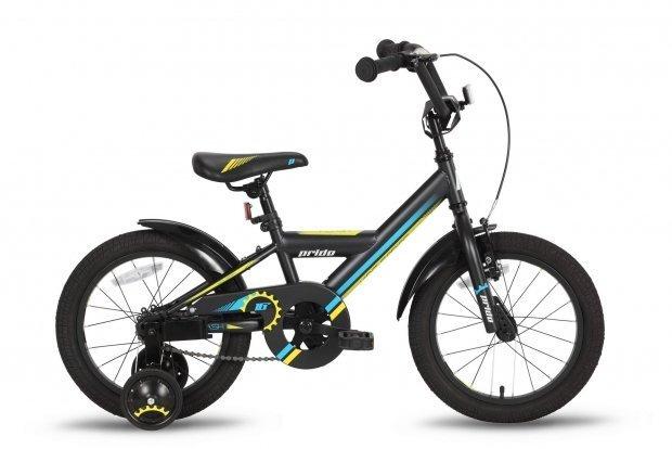 Велосипед PRIDE FLASH 2016 черно-желтый матовый