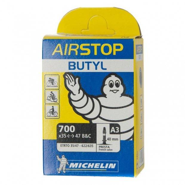 "Камера Michelin A3 AIRSTOP, 28""(35/47X622/635), presta"