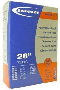 """Камера 28"""" (18/25-622/630) Schwalbe SV20 EXTRA LIGHT 80mm"""