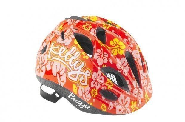 Шлем детский Buggie красный цветок, размер XS/S