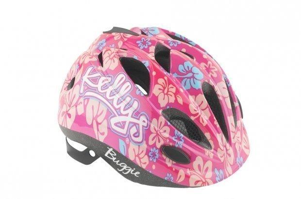Шлем детский Buggie розовый цветок, размер XS/S