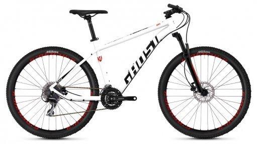 "Велосипед 27.5"" Ghost Kato 3.7 star white / night black / fiery red"