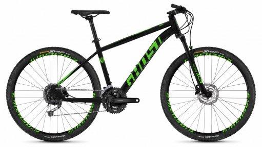 "Велосипед 27.5"" Ghost Kato 4.7 night black / riot green"