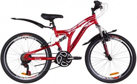"""Велосипед 24"""" Discovery ROCKET Vbr 2019 красно-белый с черным"""