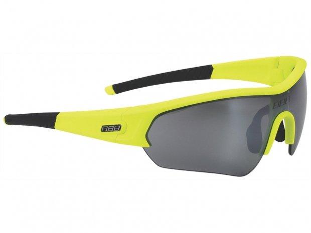 """Очки BSG-43 """"Select"""" PC димч.зеркальные линзы чорн. Дуги, неоновий жовтий"""
