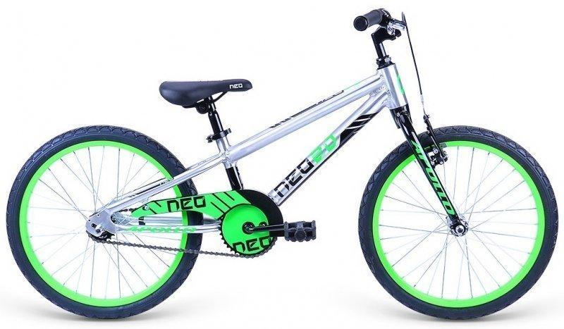 """Велосипед 20"""" Apollo Neo 20 boys черный/салатовый"""