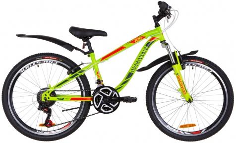 """Велосипед 24"""" Discovery FLINT AM Vbr 2019 зелено-красный (м)"""