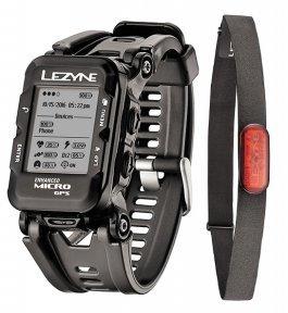 Часы-велокомпьютер Lezyne Micro GPS Watch + датчик пульса