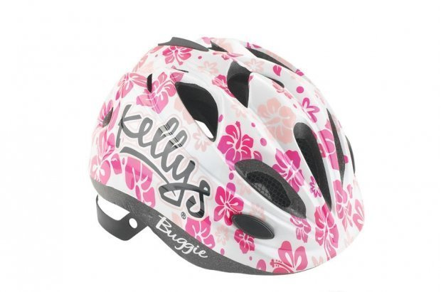 Шлем детский Buggie белый цветок, размер S/M