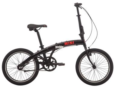"""Велосипед складной 20"""" Pride MINI 3 2019 черный/ярко-красный"""