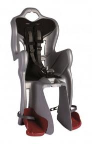 Сидіння задн. Bellelli B1 Сlamp (на багажник) до 22кг, сріблясте з чорної підкладкою