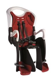Кресло BELLELLI Tiger Clamp до 22кг (черно-белый с красн подкладкой) на багажник