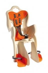Сидіння задн. Bellelli PEPE Standart Multifix до 22кг, бежеве з помаранчевої підкладкою