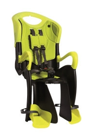 Сиденье задн. Bellelli TIGER Сlamp (на багажник) черно-салатовый/салатовая подкладка (HI Vision)