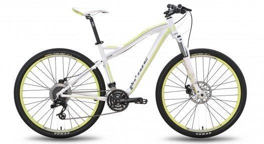 Велосипед PRIDE XC-650 MD W 2015 бело-желтый матовый