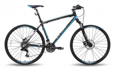 Велосипед PRIDE CROSS 2.0 2015 черно-синий матовый