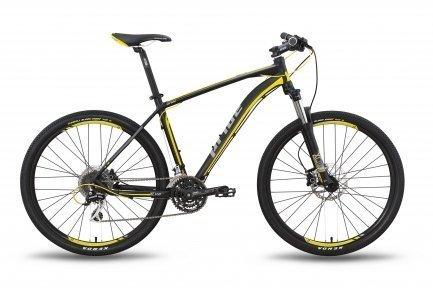 Велосипед PRIDE XC-650 HD 2015 черно-жёлтый матовый