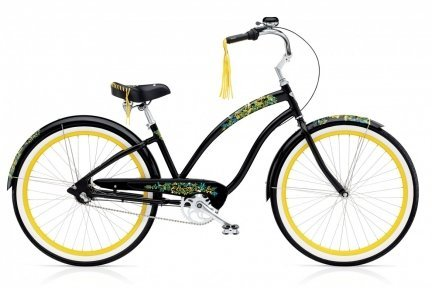 Велосипед ELECTRA Flora & Fauna 3i black ladies'