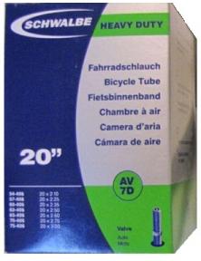 """Камера 20"""" (54 / 75x406) Schwalbe AV7D 40мм DOWNHILL EK"""