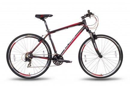 Велосипед PRIDE CROSS 1.0 2016 черно-красный матовый