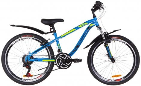 """Велосипед 24"""" Discovery FLINT AM Vbr 2019 синий с зеленым (м)"""