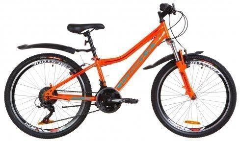 """Велосипед 24"""" Formula FOREST AM 2019 оранжево-бирюзовый с крылом"""