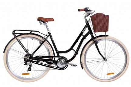 """Велосипед 28"""" Dorozhnik Coral 2019 черный"""